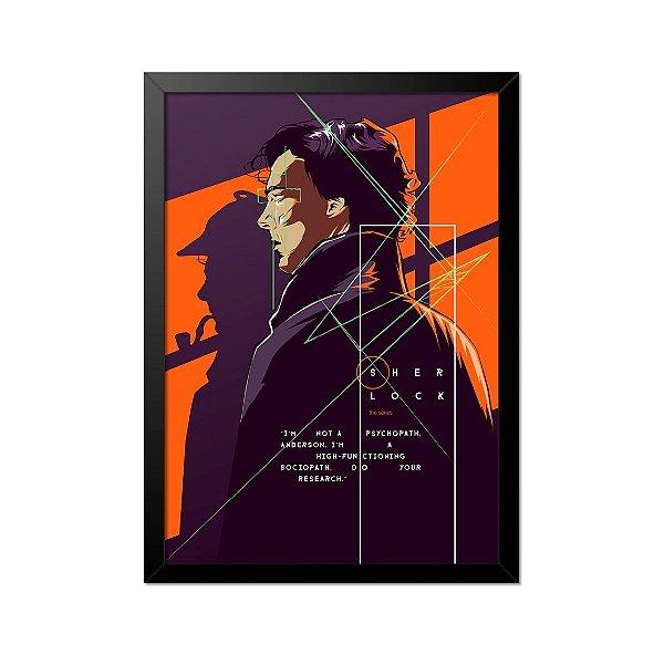 Quadro Poster Sherlock 33x23cm