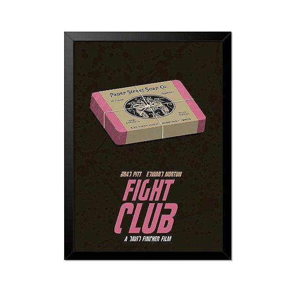 Quadro Poster Clube da Luta Paper Street Soap 33x23cm