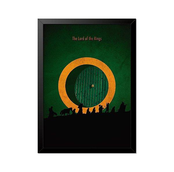 Quadro Poster O Senhor dos Anéis 33x23cm