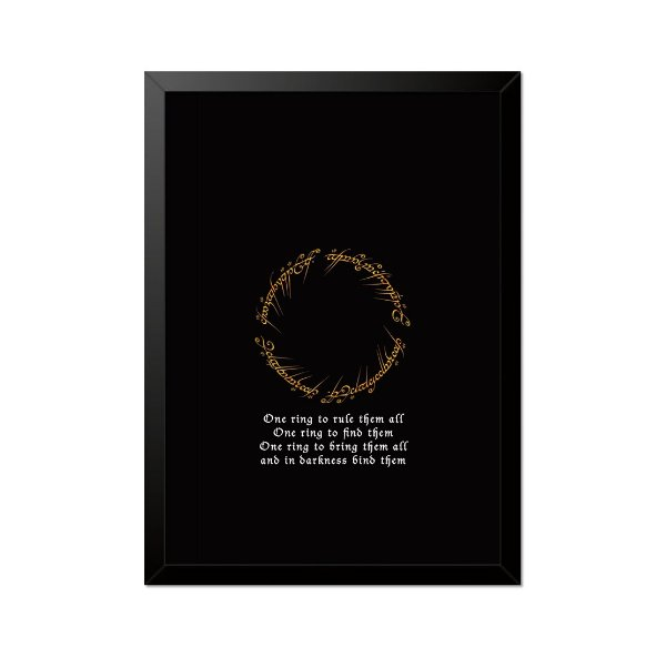 Quadro Poster O Senhor dos Anéis One Ring 33x23cm
