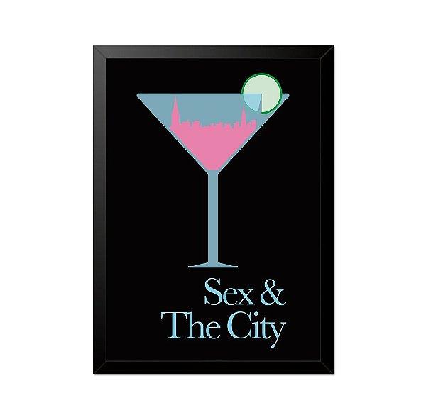 Quadro Poster Sexy and City 33x23cm