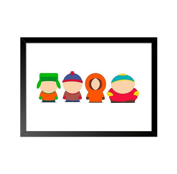 Quadro Poster South Park Minimalista 33x23cm