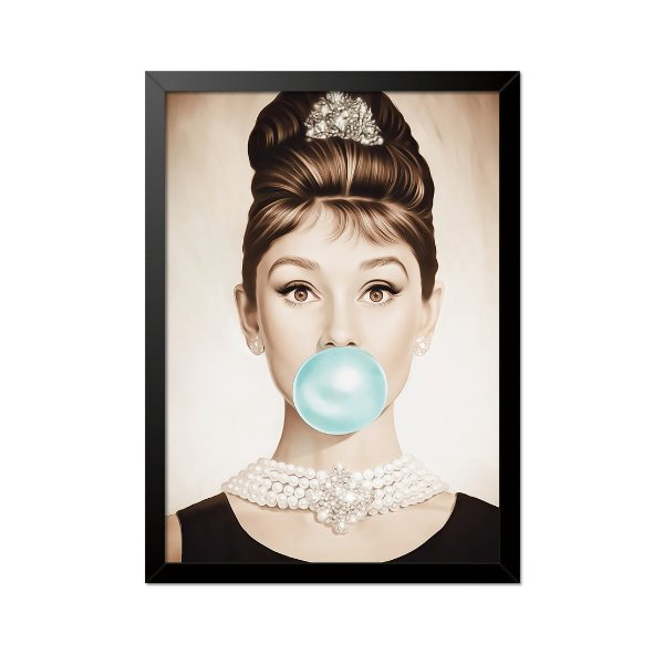 Quadro Poster Audrey Hepburn 33x23cm