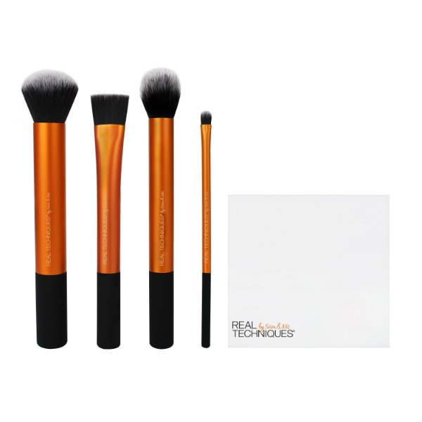 1533 - RT  KIT PARA PREPARACAO DA PELE COM 4 PINCEIS + BRUSH CUP