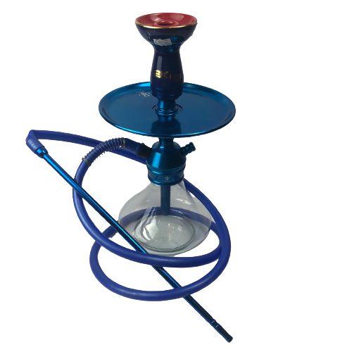 Narguile Completo TRITON - Transparente/Azul + Rosh Bking Azul