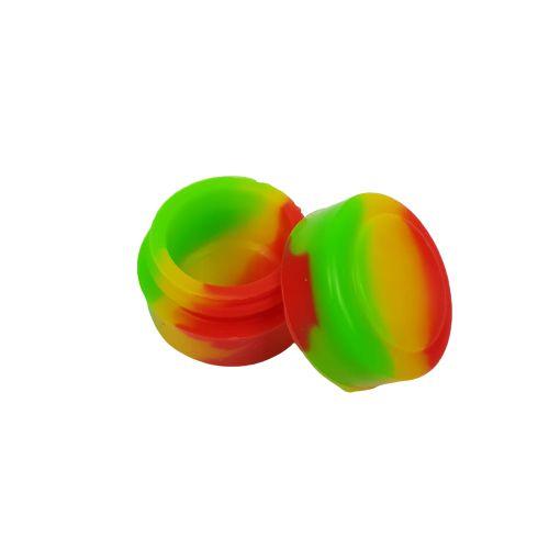 Slick Silicone Pequeno - Verde/Amarelo/Vermelho