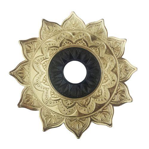 Prato Flowers - Dourado e Preto 2