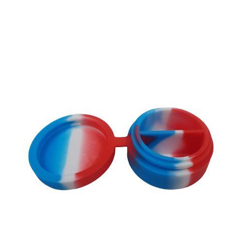 Slick de Silicone Médio com Divisória - Azul/Branco e Vermelho