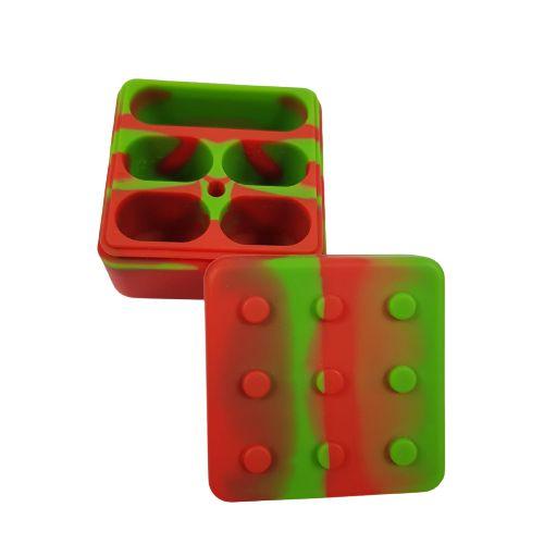 Slick Silicone Grande 5 Partes - Vermelho e Verde
