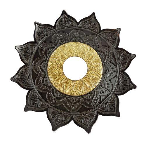 Prato Flowers Aquila Hookah - Preto e Dourado