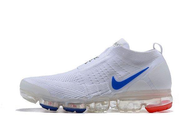 Tênis Nike Air Vapormax Flyknit Moc 2 Feminino Branco Azul