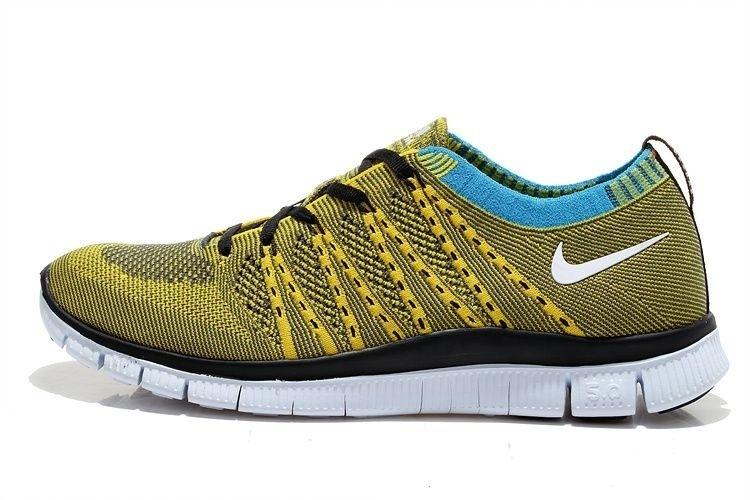 Tênis Nike Free 5.0 Flyknit - Masculino - Amarelo e Preto