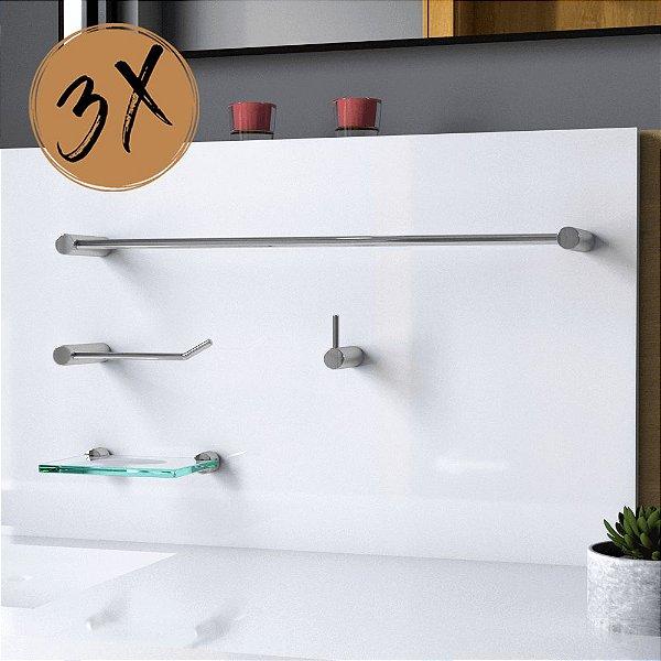 Kit Acessórios Para Banheiro (3 Kits) 12 Peças Slim 528LS3