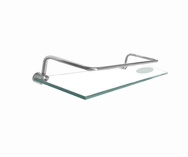 Porta Shampoo vidro duplocom saboneteira proteção 215RT Grego Metal