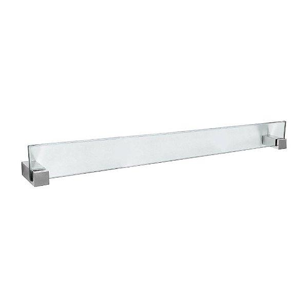 Porta Toalhas Banho em Vidro Vitralle 406VT Grego Metal