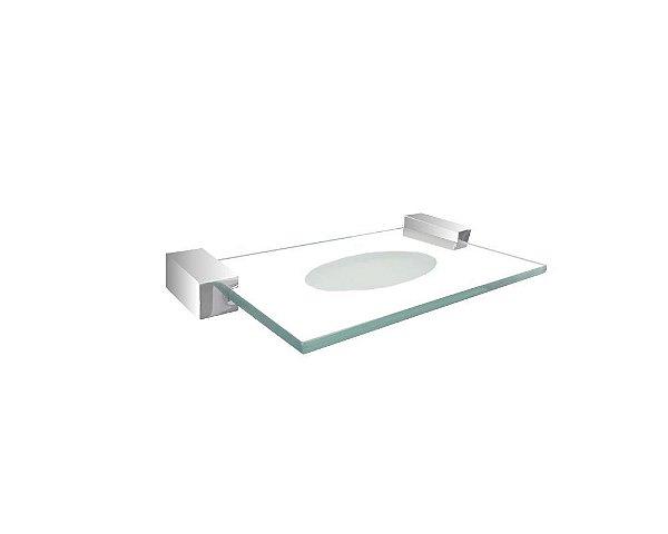 Saboneteira vidro para banheiro e pia dispenser 313DCA Grego Metal