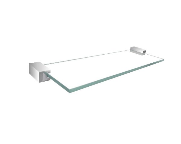 Prateleira suporte para shampoo banheiro de vidro 314DCA Grego Metal