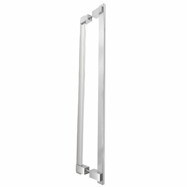 Puxador de Portas Duplo Alto Padrão 40 cm Clean 200CL Grego Metal