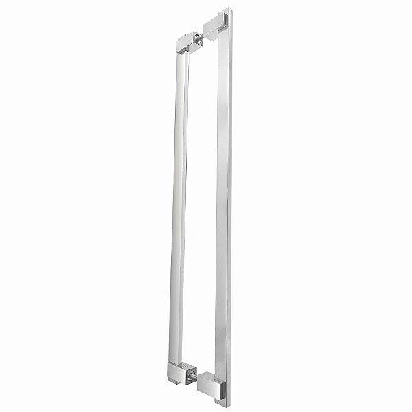 Puxador de Portas Duplo Alto Padrão 80 cm Clean 200CL Grego metal