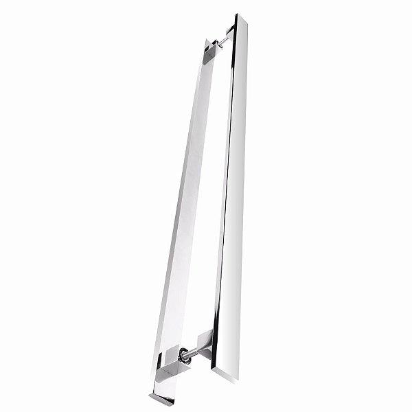 Puxador Para Portas Duplo 80 cm Tebas 500TB Grego Metal