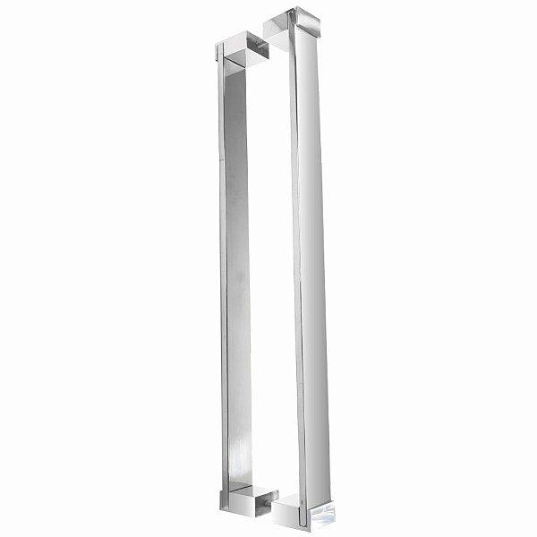 Puxador Para Portas em Aço Inox 80 cm Docol 800DO Grego Metal