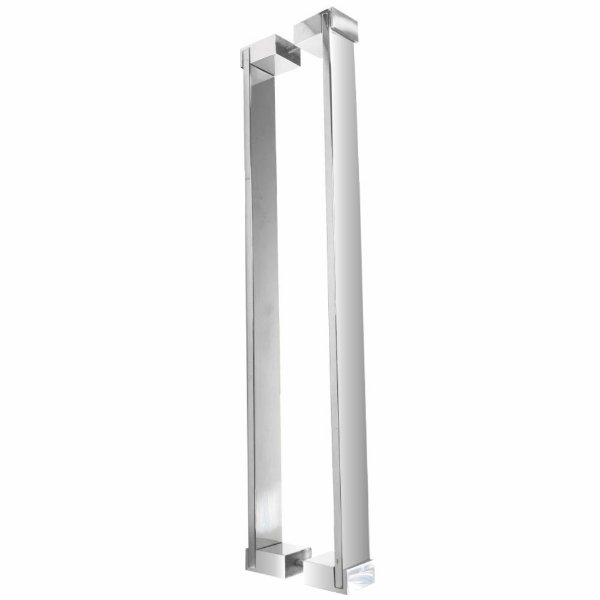 Puxador Para Portas Aço Inox 120 cm Docol 800DO Grego Metal