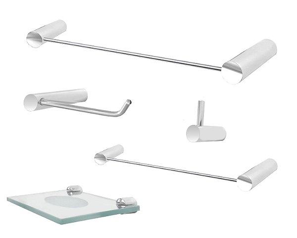 Acessórios para banheiro metal 5 peças Slim 501SLA Grego Metal