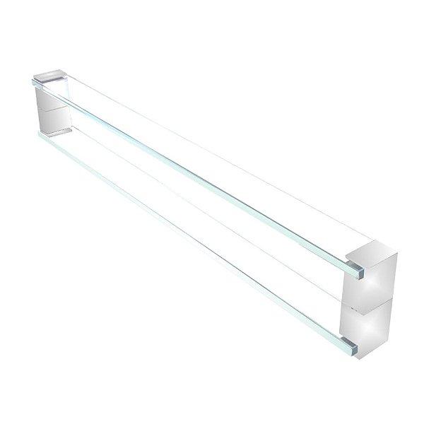 Puxador de vidro para portas de madeira e vidro 110RT 80cm Grego Metal