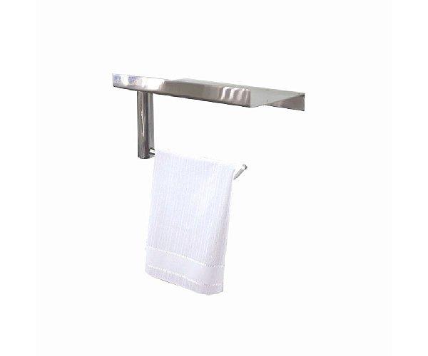 Porta toalhas com suporte para acessórios aço inox 113CP Grego Metal