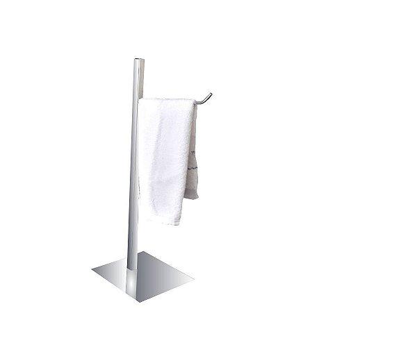 Porta toalha de bancada simples aço inox e metal 116CP Grego Metal