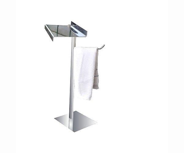 Suporte toalhas bancada aço inox apoio de acessórios 315DCA Grego Metal