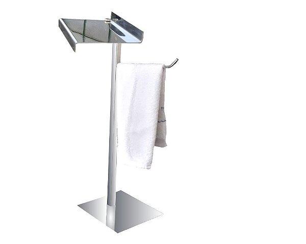Porta toalha para bancada metal com suporte aço inox para acessórios 315DCB Grego Metal