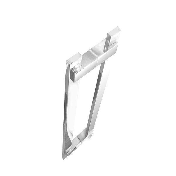 Puxador para porta de vidro e madeira 40 cm auto brilho 200CL Grego Metal
