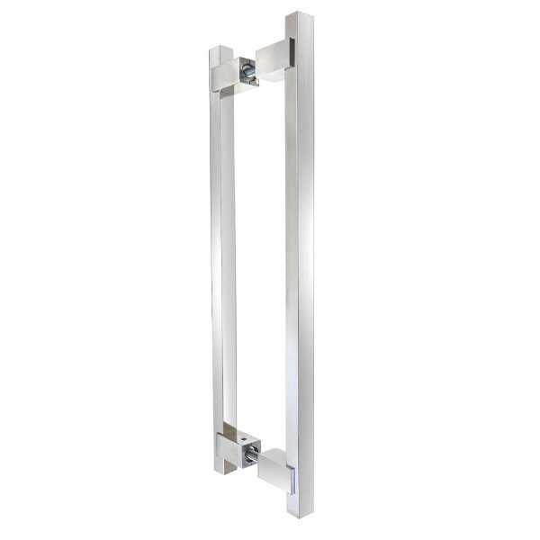 Puxador Para Portas Duplo 80 cm Decor 300DC Polido Brilhante