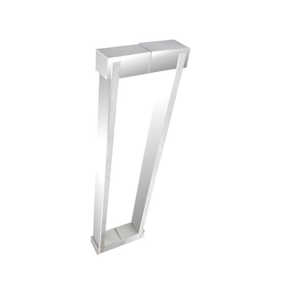Puxador aço inox para porta de vidro e madeira 40 cm auto brilho 700DE Grego Metal