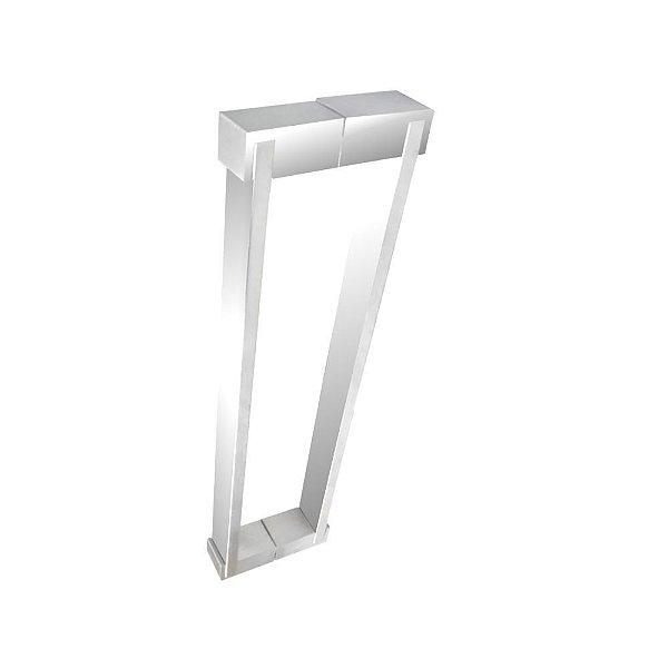 Puxador aço inox polido para portas vidro temperado/madeira 700DE [duplo] 100 cm Grego Metal