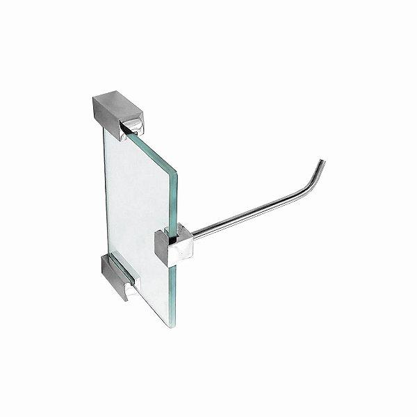 Porta Papel Higiênico de Vidro Classic 604CLA Grego Metal