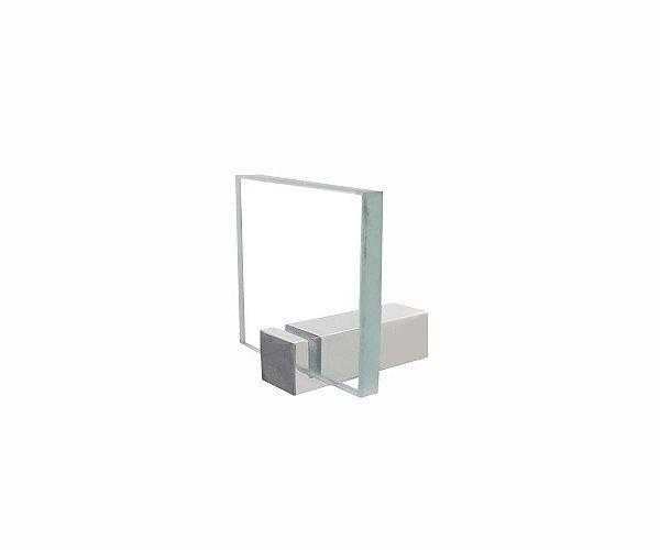 Cabide porta toalha acessório em vidro 603CLB Grego Metal