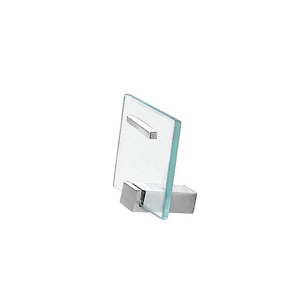 Cabide Porta Toalhas de Vidro Exclusive 703EXA Grego Metal