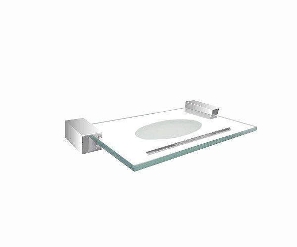Porta sabonete de vidro para banheiro 705EXA Grego Metal