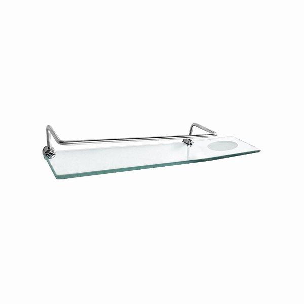 Prateleira Dupla em Vidro com Proteção Luxo Slim 515LS Grego