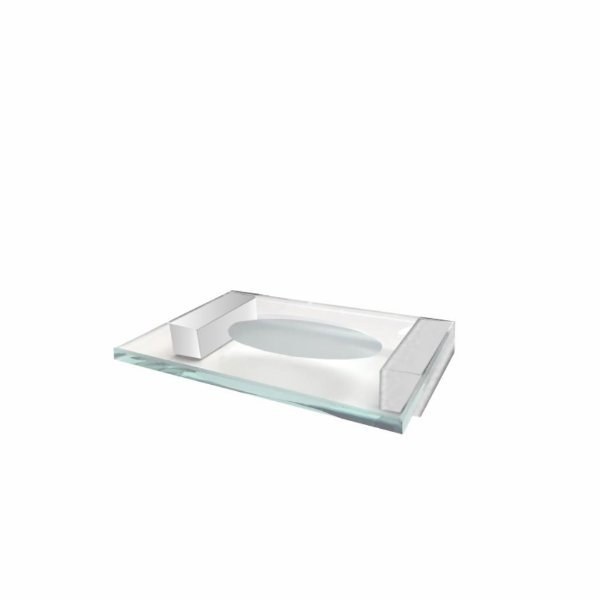 Saboneteira Aço Inox e Vidro Alto Padrão 313VIP Grego Metal