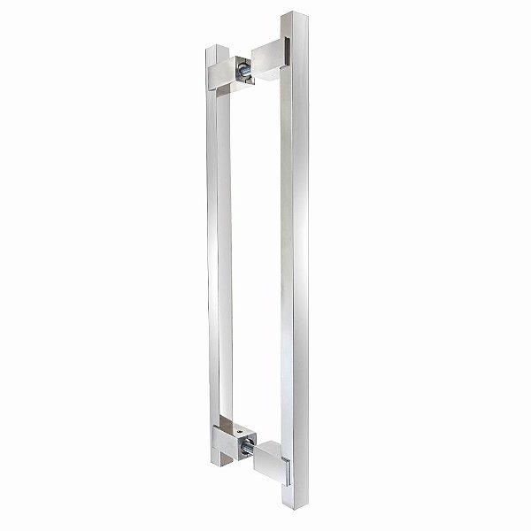 Puxador Para Portas Duplo 60 cm Decor 300DC Polido Brilhante