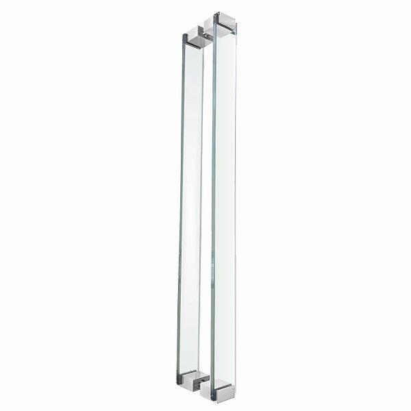 Puxador Para Portas em Vidro Incolor Polido Retrô 110RTIP