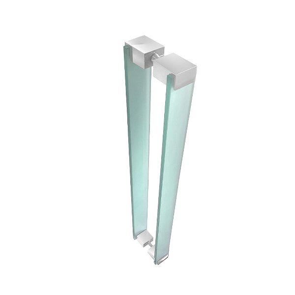Puxador Para Portas em Vidro Verde Jateado Retrô 110RTVJ