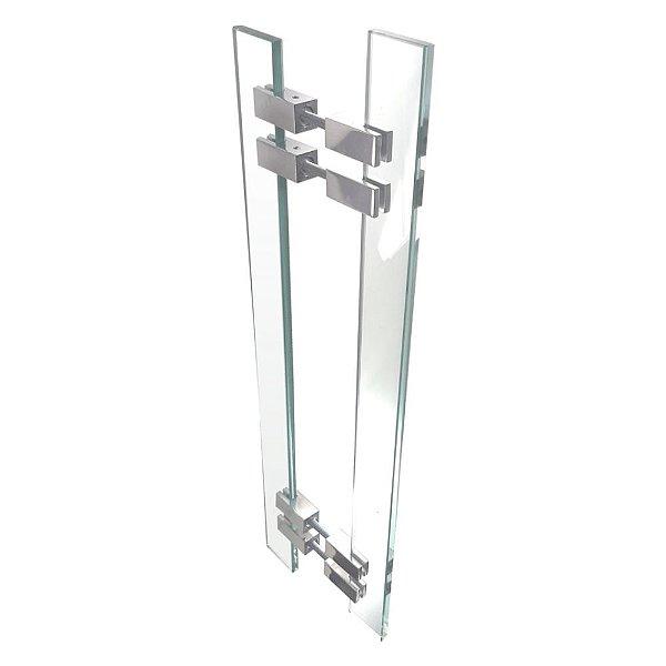 Puxador de Portas Vidro Incolor Alto Padrão Vitrô 900VTI
