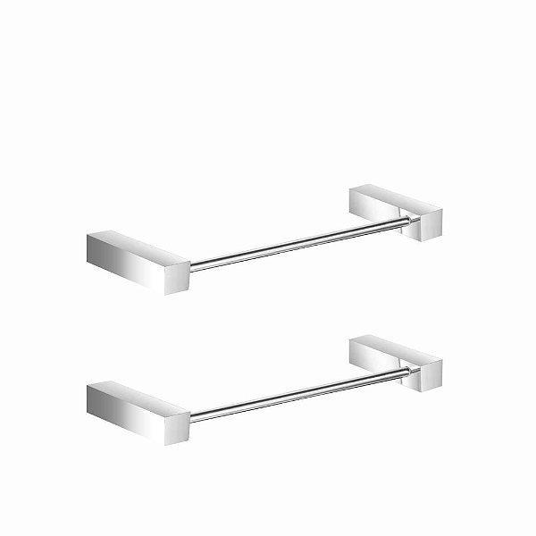 Porta Toalha De Rosto Em Metal Kit 2 Peças Prátika 803PK2