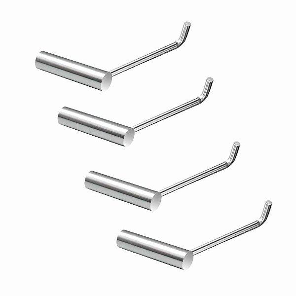 Papeleira Metal Kit (4 Peças) Luxo Slim 511LS4 Grego Metal
