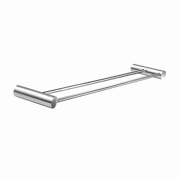 Porta Toalhas Duplo Suporte Metal Luxo Plus 508LPA Grego