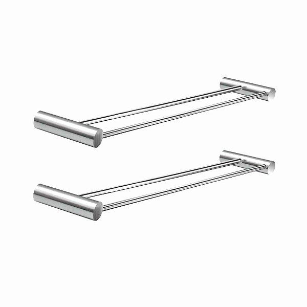 Porta Toalhas Duplo 30 cm (Kit 2 Peças) Luxo 530LP2 Plus